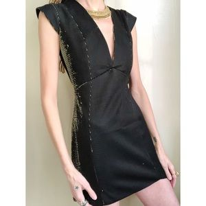 Mason black and gold lurex dress.